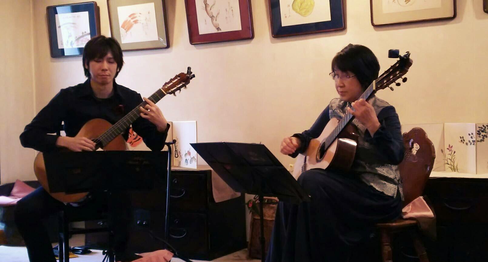 曲健一講師(八王子教室担当)、滝永厚子Duoコンサート at こけしの館「たつみ」2017年3月30日(木)